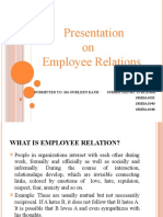 Presentation on employee relations