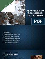Pensamiento económico de la biblia