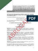 Ley Orga Nica Municipal Para El Estado de Guanajuato Abrogada