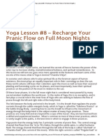 Yoga Lesson #8 – Recharge Your Pranic Flow on Full Moon Nights _