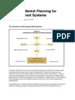 Strategic Market Planning for Public Transit Systems