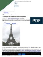 ¿Por qué la Torre Eiffel tiene la forma que tiene_ _ Estructurando