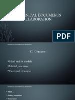 Technical Documents Elaboration