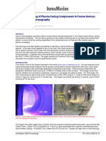 Lock In Thermography of Plasma Facing Components-Courtois A
