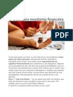 8 dicas para mordomia financeira
