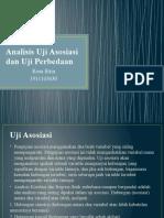 Analisis Uji Asosiasi Dan Uji Perbedaan
