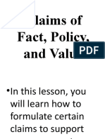 Claims of Fact, Policy, and Value.pptx
