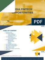 India Fintech Opportunities 2020