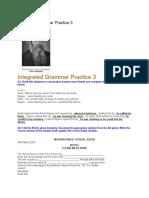 Integrated Grammar Practice 3