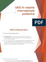 URSS în relațiile internaționale postbelice
