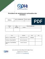 #Procedure de maintenance serveurs PMS-S17-MASE19