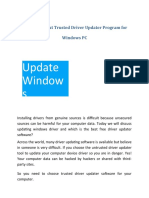 Read-Out-About-Trusted-Driver-Updater-Program-for-Windows-PC.ppt