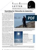 Searching for meteorites in Antarctica