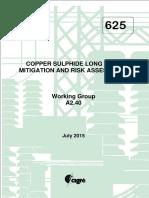 625 Copper Sulphide Long Term Mitigation And Risk Assessment