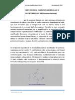 CALCULO DE POTENCIAS Y EFICIENCIA EN AMPLIFICADORES CLASE B