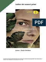 Scaricare Libri La solitudine dei numeri primi Gratis (PDF - ePub - Mobi) Di Paolo Giordano.pdf