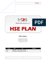 Sample HSE Plan