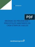 Aerolíneas Argentinas presentó su protocolo contra el coronavirus