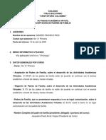 Informe Asesores Sandro Pacheco 4to A