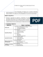 GESTION EN INFORMATICA PARA INSTITUCIONES EDUCATIVAS (Propuesta)