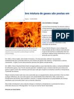 Leis da física sobre mistura de gases são postas em questão