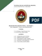 PROGRAMACIÓN DEL ESCENARIO 1 (SEGUNDO PROGRESO)