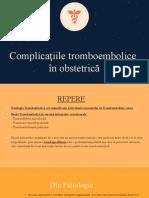 complicatiile trombembolice
