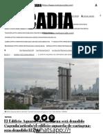El Edificio Aquarela de Cartagena será demolido