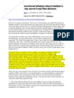 Iraq WMD's - Shattering Conventional Wisdom - Loftus