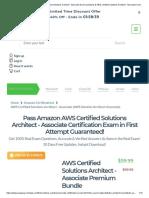 100% Free Amazon AWS Certified Solutions Architect - Associate Exam Questions & AWS Certified Solutions Architect - Associate Certification Dumps - PrepAway.pdf