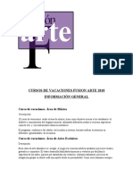 CURSOS DE VACACIONES FUSION ARTE 2018
