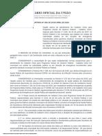 PORTARIA Nº 368, DE 29 DE ABRIL DE 2020 - PORTARIA Nº 368, DE 29 DE ABRIL DE 2020 - DOU - Imprensa Nacional