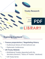 Treaty Research 2019