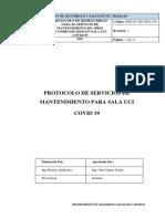 Protocolo de Servicios de Mantenimiento Para Area UCI COVID 19