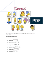 camila Oliva Simpsons Family Quiz