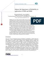 A Proposal to Enhance the Importance of Reliability in the Application of NDE and SHM – 2017