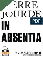 9782072909887 - Pierre Jourde - In absentia