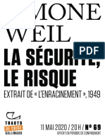 9782072910937 - Simone Weil - La sécurité, le risque