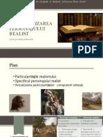 Caracterizarea personajului realist