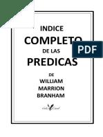 INDICE  COMPLETO DEL MENSAJE EN ESPAÑOL