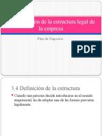Esctructura legal