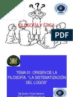 TEMA 01B ORIGEN DE LA FILOSOFÍA