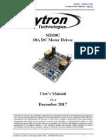 MD30C User's Manual