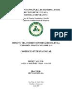 Impacto del Comercio Internacional en la Economía Dominicana 1998