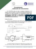 Procedimiento para la calibración de instrumentos
