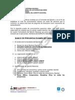BANCO DE PREGUNTAS CONOCIMIENTOS GENERALES