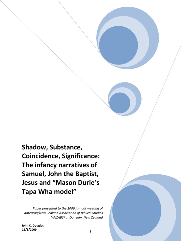 SHADOW, SUBSTANCE, COINCIDENCE, SIGNIFICANCE: THE INFANCY