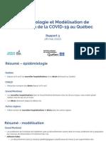 Épidémiologie et Modélisation de l'évolution de la COVID-19 au Québec
