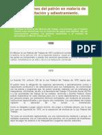 Obligaciones del patrón en materia de capacitación y adiestramiento