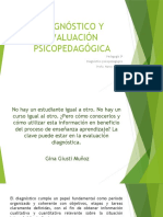 DIAGNÓSTICO Y EVALUACIÓN PSICOPEDAGÓGICA